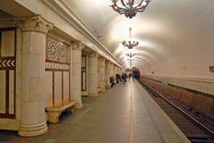 Метро Москвы, станция Paveletskaya (линия круга) стоковые изображения rf