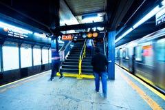 Метро Нью-Йорка Стоковое Фото