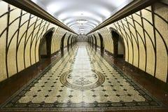 Метро современной дорожки внутреннее в Алма-Ате стоковое фото