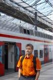 метро станции человека Стоковые Фотографии RF