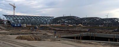 Метро строительной площадки в гавани Стоковые Изображения