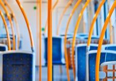 метро экипажа пустое внутреннее Стоковая Фотография