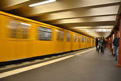 метро alexanderplatz Стоковое Фото