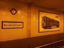 Метро Klosterstrasse Стоковые Фото