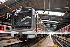 метро prague депо hostivar Стоковая Фотография