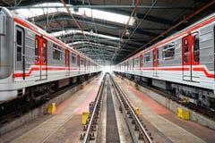 метро prague депо hostivar Стоковое Фото