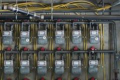 Метры природного газа стоковое изображение