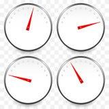 Метры, шкалы с красным указателем Спидометр, манометр, давление бесплатная иллюстрация