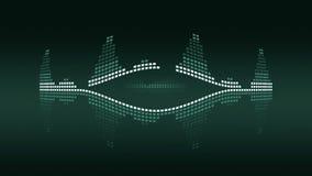Метры VU музыки зеленый сбор винограда Безшовное петл-способное 4K иллюстрация штока