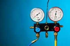 Метр давления и контроля температуры стоковая фотография rf