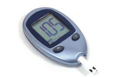 метр глюкозы крови Стоковое Изображение
