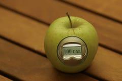 метр калории яблока Стоковое Изображение RF
