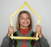 метр мальчика стоковая фотография