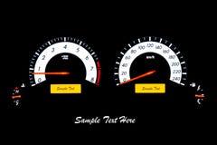 Метр скорости автомобиля крупного плана Стоковые Изображения RF