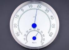 Метр температуры и влажности стоковое изображение rf