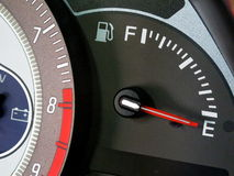 Метр топлива автомобиля Стоковая Фотография