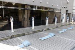 Метр торгового автомата автостоянки автомобиля Стоковые Изображения