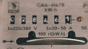 Метр электричества измеряет уничтоженное течение видеоматериал