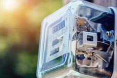 Метр amp ваттчаса электричества стоковая фотография