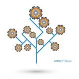 Механизированный логотип дерева Иллюстрация штока