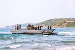 Механизированный спускаемый аппарат или LCM Южной Кореи носят светлый tan Стоковые Изображения