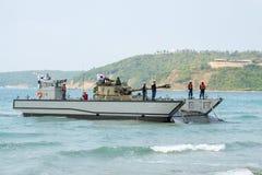 Механизированный спускаемый аппарат или LCM Южной Кореи носят светлый tan Стоковое фото RF