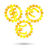 Механизм золота монетный Бесплатная Иллюстрация