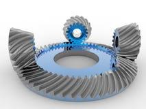 Механизм конического зубчатого колеса Стоковая Фотография RF
