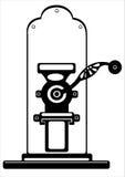 Механизм настройки радиопеленгатора вектора изолированный на белизне Стоковые Изображения