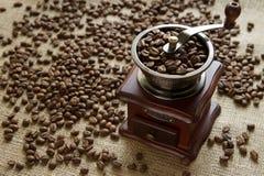 Механизм настройки радиопеленгатора на кофейных зернах предпосылки Стоковое Изображение