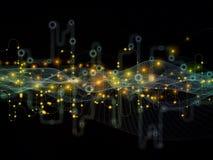 Механизм потока информации Стоковое Изображение