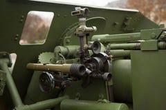 Механизм полевой пушки артиллерии Стоковая Фотография