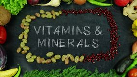 Механизм прерывного действия плодоовощ витаминов & минералов Стоковая Фотография RF