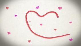 Механизм прерывного действия дня валентинки - 'я тебя люблю' сток-видео
