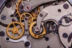 Механизм старых советских часов Стоковая Фотография