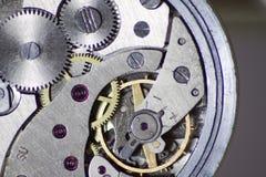 Механизм старых часов внутренний Стоковое фото RF