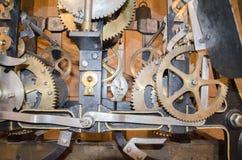 Механизм старых часов Стоковое Фото