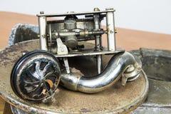 Механизм старых gramophoneCircles дороги стоковые изображения rf