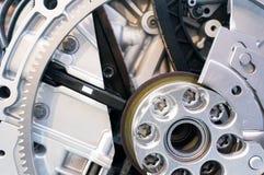 Механизм с шестерней, весной и цепью Стоковое фото RF