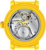 механизм часов золота Стоковая Фотография