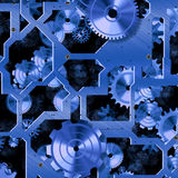 механизм часов Стоковые Фотографии RF