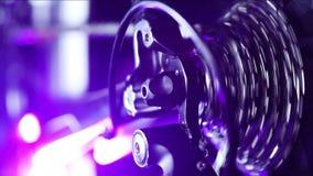 Механизм шестерней велосипеда на заднем колесе сток-видео