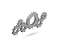 Механизм шестерни вектора равновеликий Значок установок Стоковое Изображение