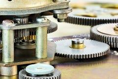 Механизм шестерни деталь cog и колеса closeup Стоковые Изображения RF