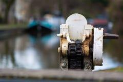Механизм шестерни для замка канала Стоковое Фото