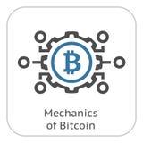 Механики значка Bitcoin бесплатная иллюстрация