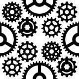 Механики иллюстрации вектора шестерни зацепляя форму развития сети работают машинное оборудование оборудования колеса двигателя c иллюстрация штока