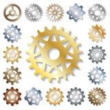 Механики иллюстрации вектора шестерни зацепляя форму развития сети работают элемент машинного оборудования оборудования колеса дв иллюстрация штока