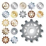 Механики иллюстрации вектора шестерни зацепляя форму развития сети работают элемент машинного оборудования оборудования колеса дв иллюстрация вектора