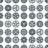 Механики иллюстрации вектора шестерни зацепляя форму развития сети работают машинное оборудование оборудования колеса двигателя c бесплатная иллюстрация